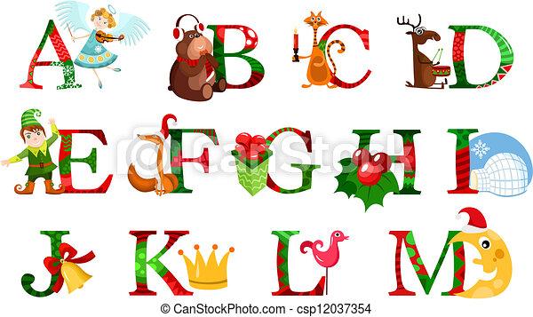 Christmas Alphabet.Christmas Alphabet