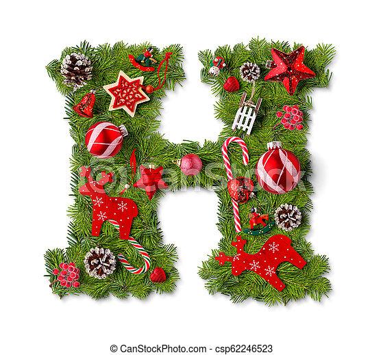 Christmas Alphabet.Christmas Alphabet Letter H