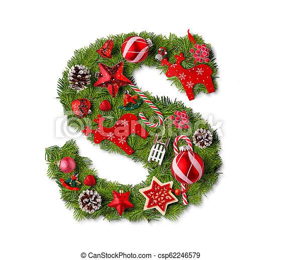 Christmas Alphabet.Christmas Alphabet Letter S