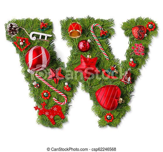 Christmas Alphabet.Christmas Alphabet Letter W