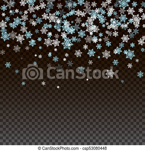 Christmas and New Year background with snowflakes - csp53080448