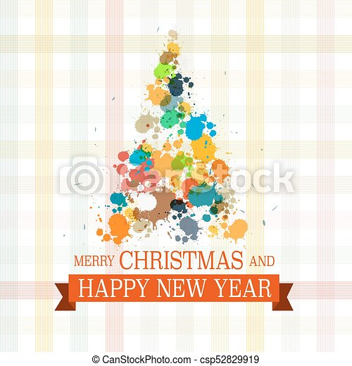 Christmas and New Year Vector Design - csp52829919