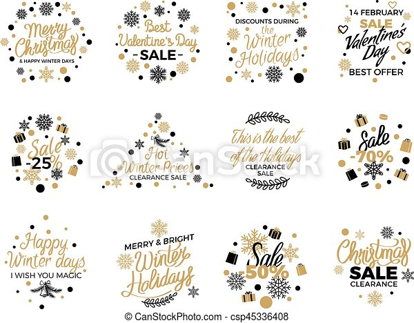 photo relating to Sales Signs Templates referred to as Xmas and Valentine s Sale Banner Templates