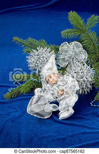 Christmas Angel And Tree - csp87565162