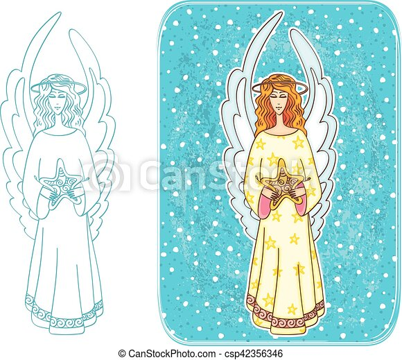 Christmas angel - csp42356346