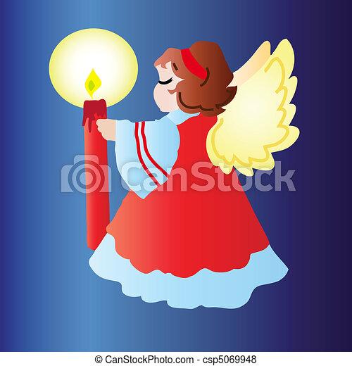 Christmas angel. - csp5069948
