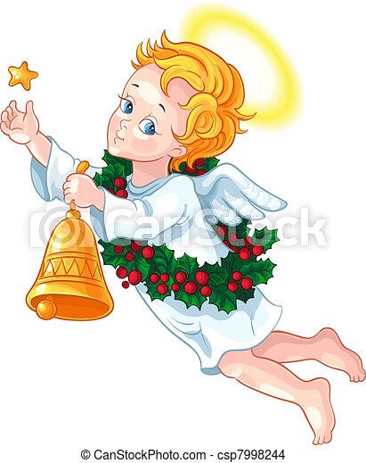 Christmas angel - csp7998244
