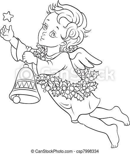 Christmas angel - csp7998334