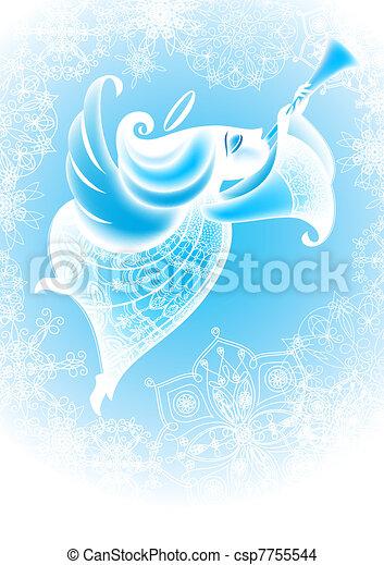 Christmas Angel flies - csp7755544