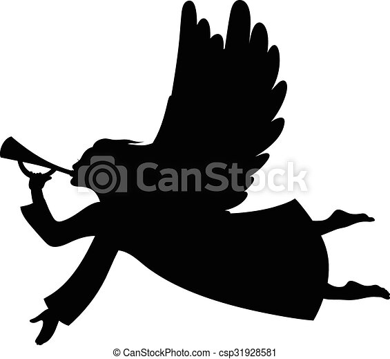 Christmas angel silhouette - csp31928581