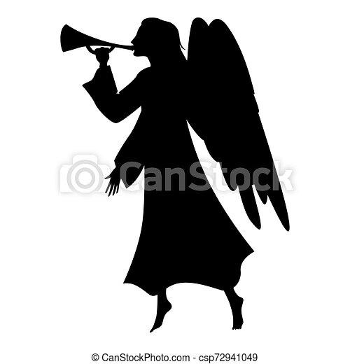 Christmas angel silhouette - csp72941049