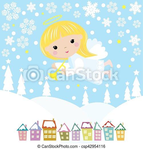 Christmas angel - csp42954116