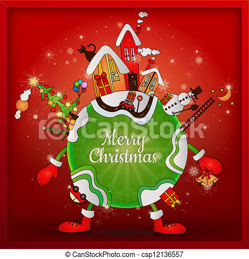 christmas around the world cartoon planet on christmas clipart rh canstockphoto com christmas around the world clipart black and white Traditions around the World Clip Art