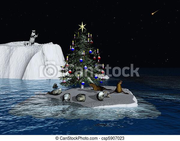 Christmas at the North Pole - csp5907023