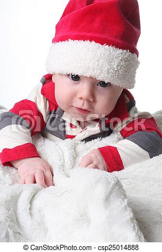d672e2339ff Christmas baby. Baby boy in a christmas santa hat. .