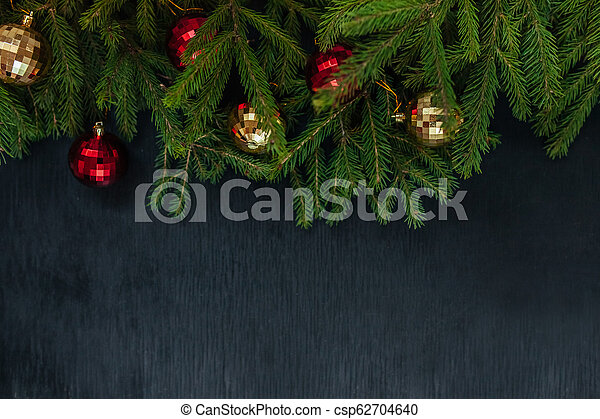 Christmas background. Background to insert text. The new year 2018 - csp62704640
