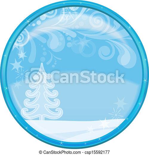 Christmas background, button - csp15592177