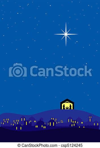 Christmas background - csp5124245