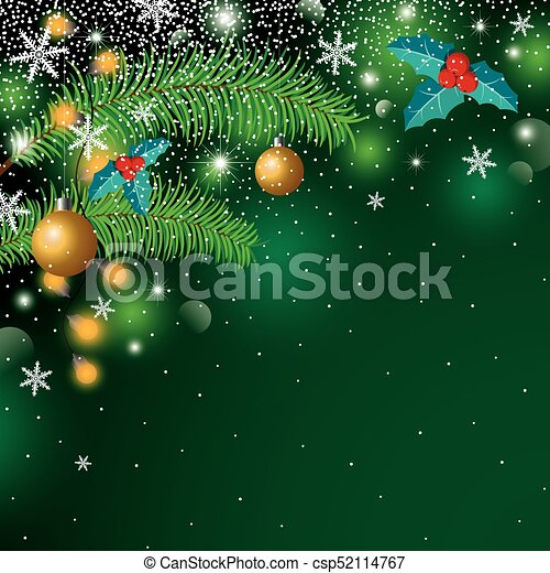 Christmas background design with copy space vector illustration - csp52114767