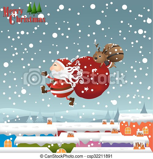 christmas  background - csp32211891