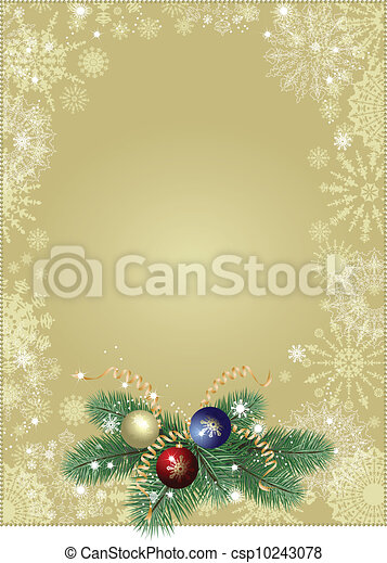 Christmas background gold - csp10243078