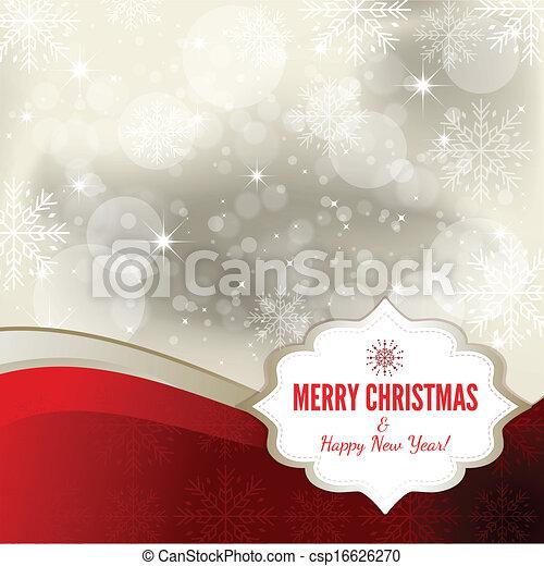 Christmas background - Illustration - csp16626270