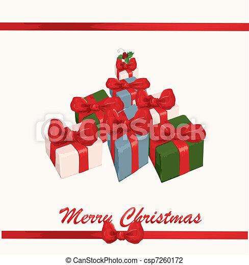 Christmas background - csp7260172