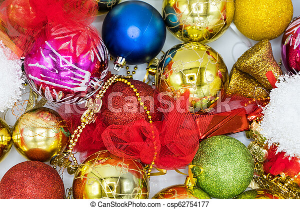 Christmas Background Image Of Colorful Balls And Decorations