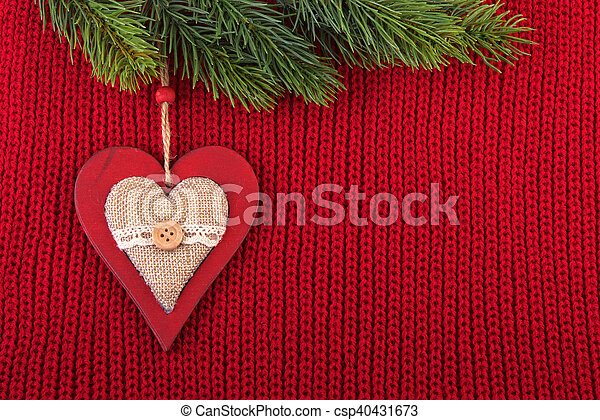 Christmas Background In A Farmhouse Style Red Wool Vintage Rustic For Celebration