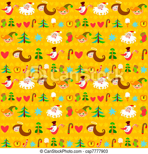 Christmas background, New Year's - csp7777903