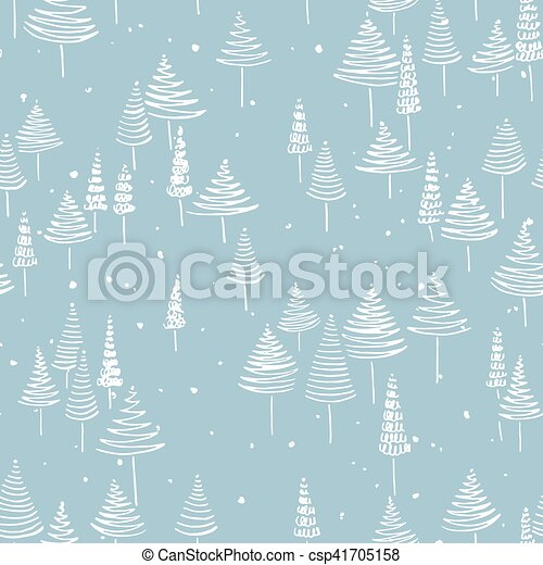 Christmas background pattern hand drawn winter seamless patterns christmas background pattern csp41705158 stopboris Gallery