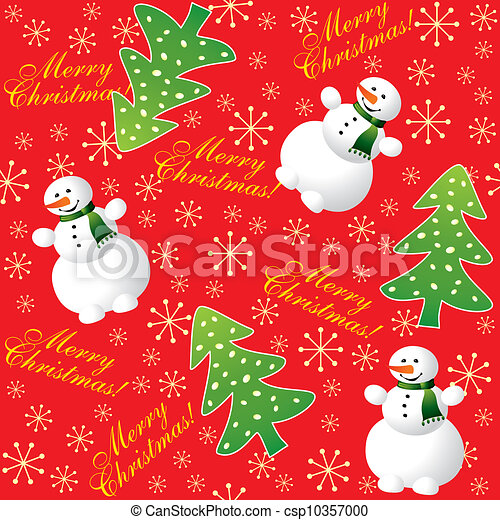 Christmas background red seamless - csp10357000