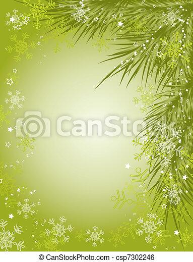 Christmas background, vector - csp7302246