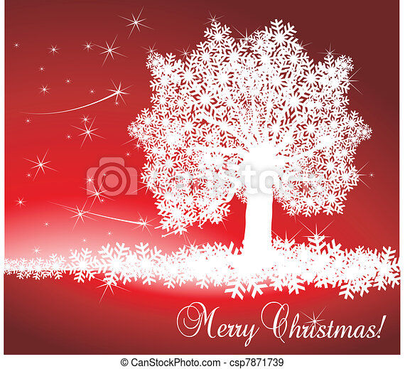 Christmas Background vector - csp7871739