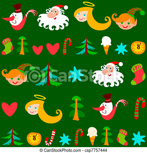 Christmas background, vector - csp7757444