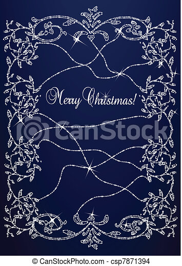 Christmas Background vector - csp7871394