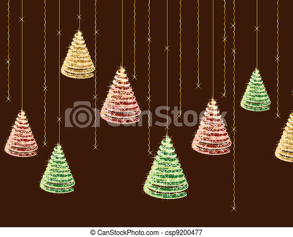 Christmas background. Vector - csp9200477