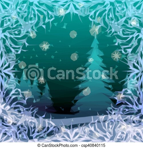 Christmas Background, Winter Forest - csp40840115
