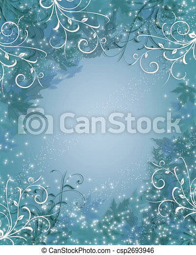 Christmas Background winter sparkle blue - csp2693946