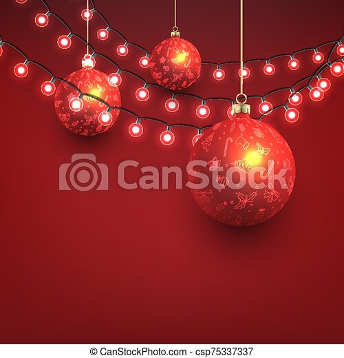 Christmas Background with Baubles - csp75337337