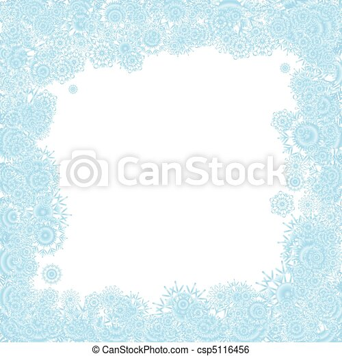 Christmas background with blue snowflakes, vector illustration - csp5116456