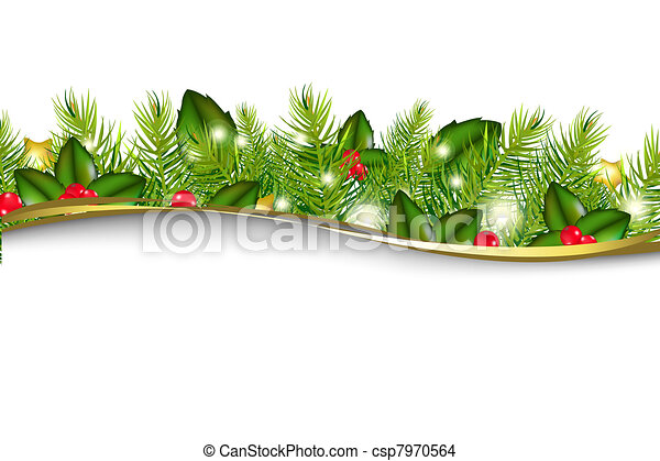Christmas Background With Border - csp7970564