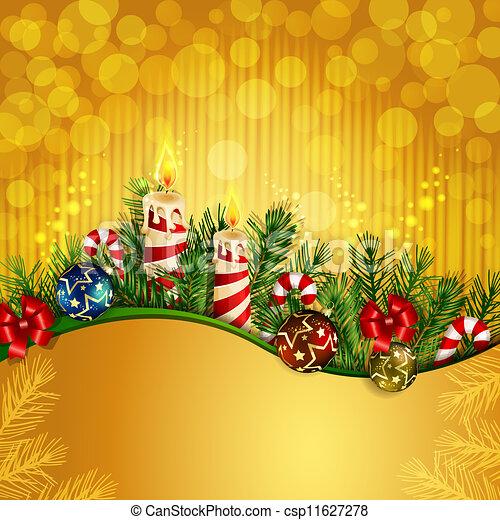 Christmas background with burning - csp11627278