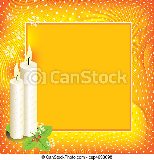 Christmas background with candles - csp4633098