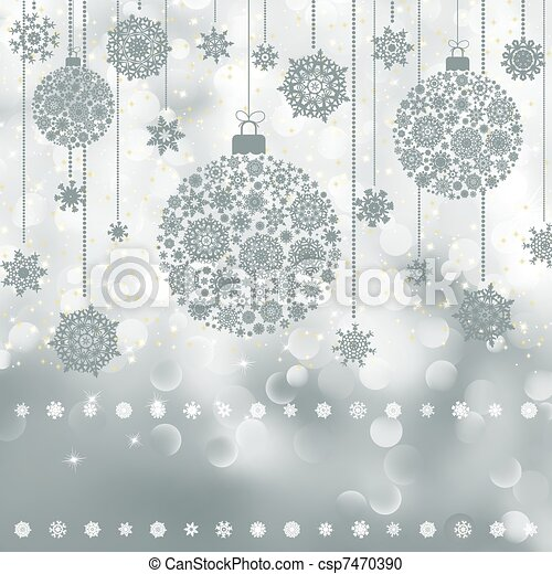 Christmas background with copyspace. EPS 8 - csp7470390