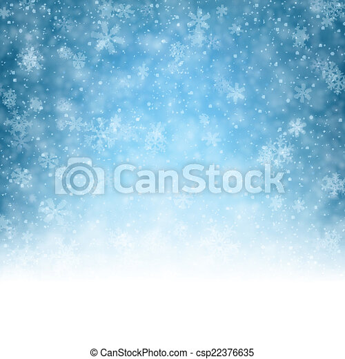 Christmas background with crystallic snowflakes. - csp22376635