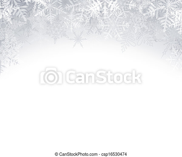 Christmas background with crystalline snowflakes. - csp16530474