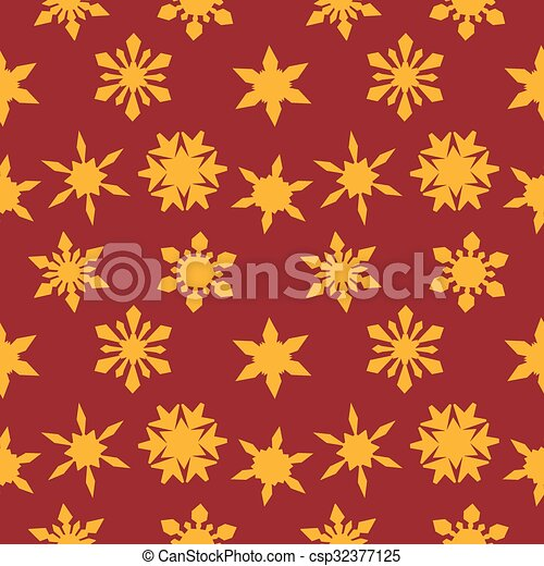 Christmas background with Golden snowflakes - csp32377125
