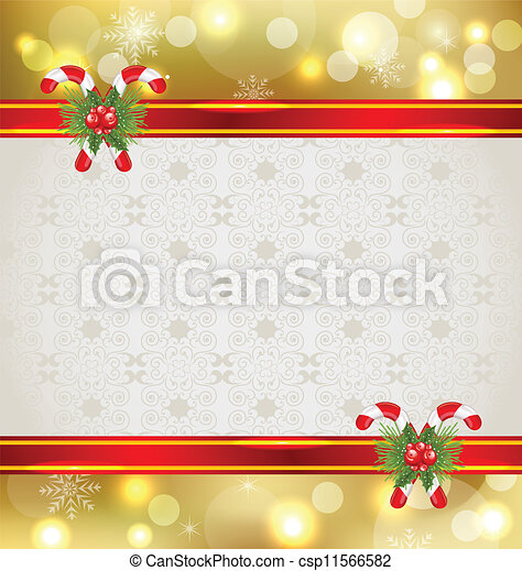 Christmas background with holiday decoration - csp11566582