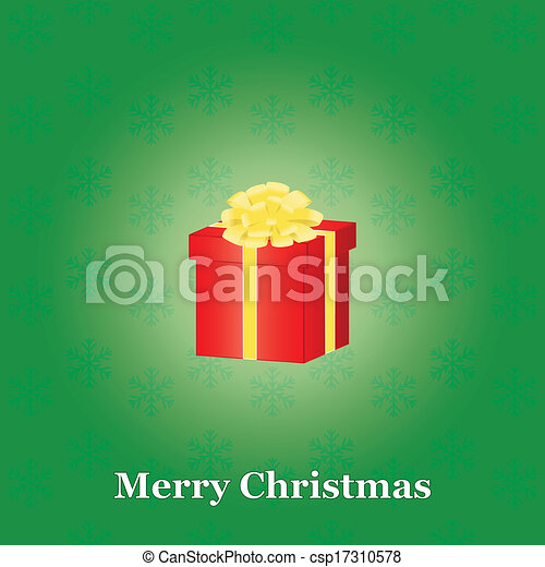 Christmas background with present - csp17310578